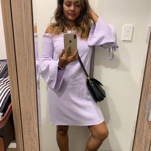 ClubMonaco offshoulder dress - lilac